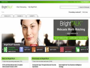 BrightTalk home page